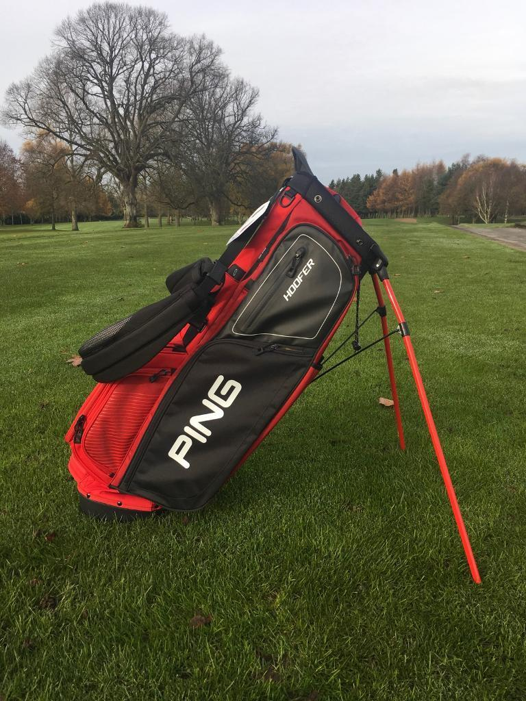 Ping Hoofer Stand Bag . Double Strap. Red & Black. Now only £119.00!!!