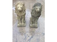 """A pair of proud lions 17"""" Tall £35 for pair"""