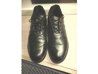ADIDAS BLACK GOLF SHOES (UK Size 10)