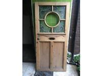 1930s hardwood art nouveau door.