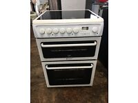 Hotpoint C367EWH 60cm Double Electric Cooker in White #3615