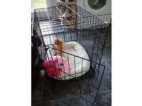 Small foldable dog cage for sale