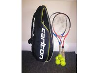 Two Tennis Racket for Adult + Tennis Bag