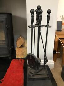 Wood Burner Companion Set Accessories, Fire wood and kindling