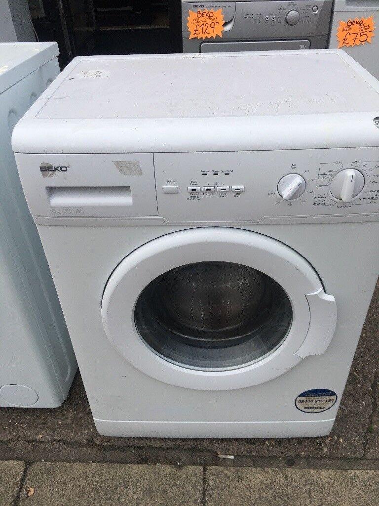 BEKO 6KG BASIC USE WASHING MACHINE IN WHITE