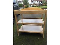 John Lewis wooden changing table