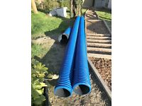 Underground Twinwall Water Ducting 225 x 6m Blue x2 lengths, Unused & New RRP £130, Bargain £25