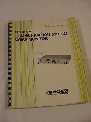 Vtg Manual - Ailtech 7330 Communication System Noise Monitor Instruction Manual