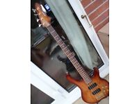 An Acepro Active AB-504-LBB 4 String Bass Guitar In Excellent Working Order
