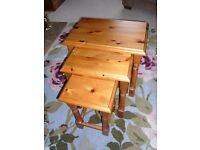 Solid Pine Nest of Tables (3 off)