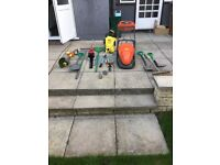 Lawn mover, strimmer, hedge trimmer etc etc.