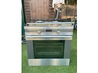 Electric oven and 2 gas hob