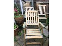 6 quality adjustable garden chairs