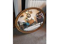 Antique Vintage Oval Mirror