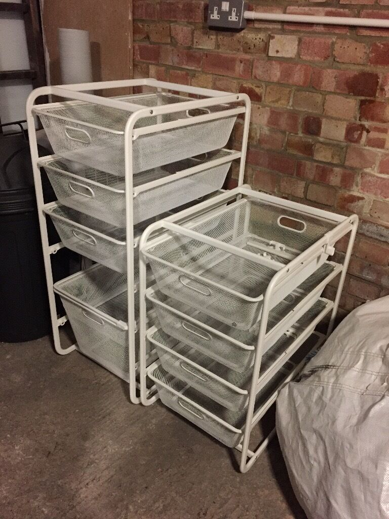 ikea algot modular storage mesh baskets drawers