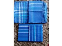 2 x Single bed blue quilt sets. (One of which is new.)