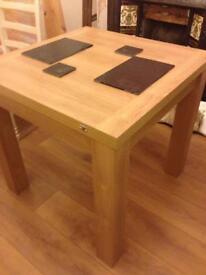 Oak finish extendable table