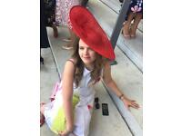 Red Occassion Hat (fascinator) £80 or ono