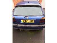 Vw golf mk 3 2.0l gti 8v one of the last 3dr blues very rare project