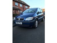 Vauxhall Zafira 1.6i Club, Blue,Manual, 2003, 7 Seater, 115.000 Miles,A fine example of this vehicle