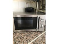 Excellent condition microwave Stainless Steele