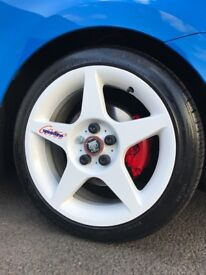 16 inch genuine 5x100 speedline wheels new tyres may swap px