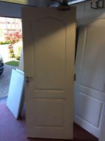 White internal fire door