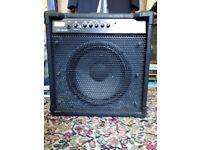 Bass Amplifier Liiney Linebacker L50 Good nick Controls: Gain, Bass, Mid (×2), Treble, Master