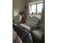Wicker conservatory furniture set