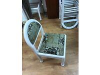 African fabric chair -handmade