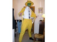 Adult Halloween Costume, The Mask (Yellow Suit & Hat)