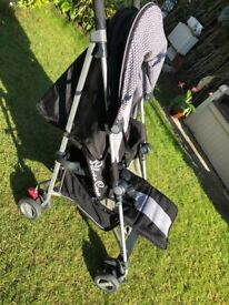ultra lightweight - USED FOR 2 WEEKS ON HOLIDAY Silver Cross Zest - Black / Silver