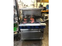 Blue Seal Flat Grill, 4 Burner Gas Cooker with Oven ( Catering Kitchen Equipment, Commercial)