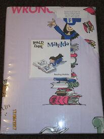 Brand New Roald Dahl Matilda double duvet cover
