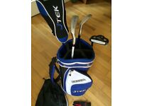 Child golf clubs and bag