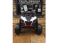 UTV MX Buggy, Leather Seats,24v, Bluetooth,Parental Remote & Self Drive, White