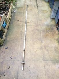 Standard Barbell bar nearly 7 ft