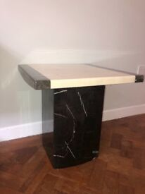 2X solid marble side tables.