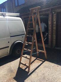 7 ft wooden ladder