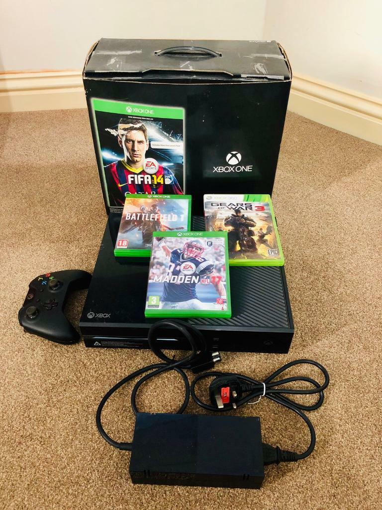 Xbox One Bundle with 3 Games, 1 Controller, kinect sensor and box  | in  Leicester, Leicestershire | Gumtree