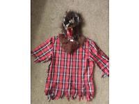Werewolf Halloween Fancy Dress Costume Small