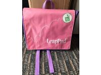 Pink Girls LeapPad Learning system with book and backpack