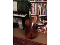 3/4 Size Cello with Case, Antique Fade, by Gear4music - DAMAGED - SEE PICTURES- RRP £194.99