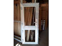 White PVCu Stable Door unglazed