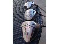 Titleist 907 D1 Driver 9.5° aldila stiff shaft..Titleist 904f 3wood 15°.. Titleist 585h 4hybrid 19°