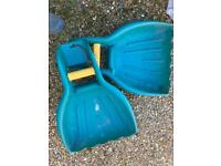 Large Garden LEAF PADDLES / SCOOPS FOR CLEARING & picking up leaves