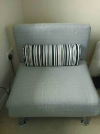 Single fold out futon chair as new