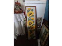 Sunflower tapestry In frame