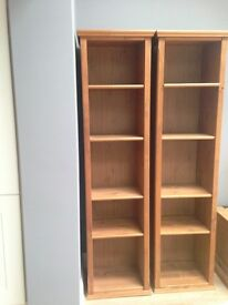 Lovely Oak Bookcases with Adjustable Shelves For Sale - £50 each or two for £80