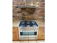 stainless steel Britannia range oven 6 burner top